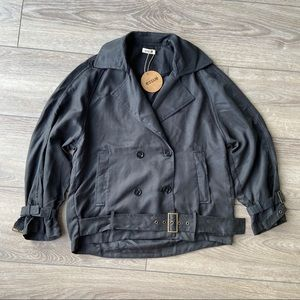 NWT Essue Woven Belted Jacket